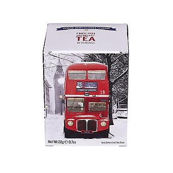 Red london bus snow scene breakfast tea 10 teabag carton