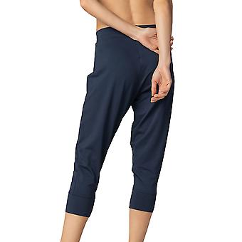 Mey Women 16959-408 Women's Night2Day Demi Night Blue Cotton 3/4 Loungewear Pant