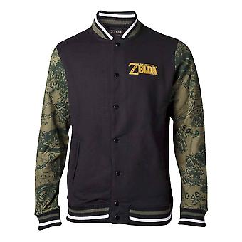 Zelda Baseball Jacket Zelda Legendary Logo new Official Nintendo Mens Varsity