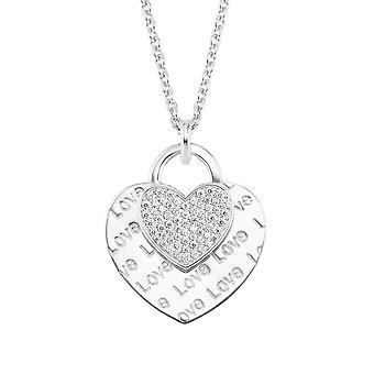 s.Oliver Jewel Damen Kette Halskette Silber Zirkonia Herz 2026089