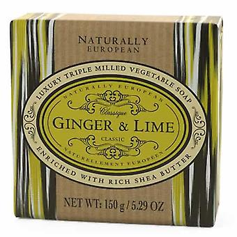 Ginger and Lime Naturally European Soap 150g