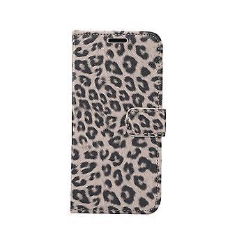 iPhone 11 Monedero Caso Leopard-Brown
