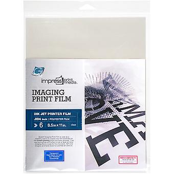 Impress Imaging Ink Jet Print Films 6/Pkg-8.5