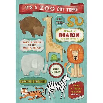 Zoo Cardstock Stickers 5.5