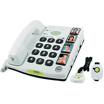 Corded Big Button doro Secure 347 Visual call notification, Hands-free No display White
