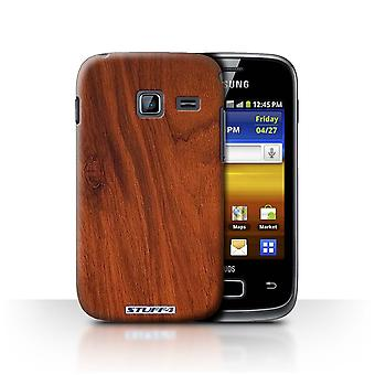 STUFF4 Case/Cover for Samsung Galaxy Y Duos/S6102/Mahogany/Wood Grain Pattern