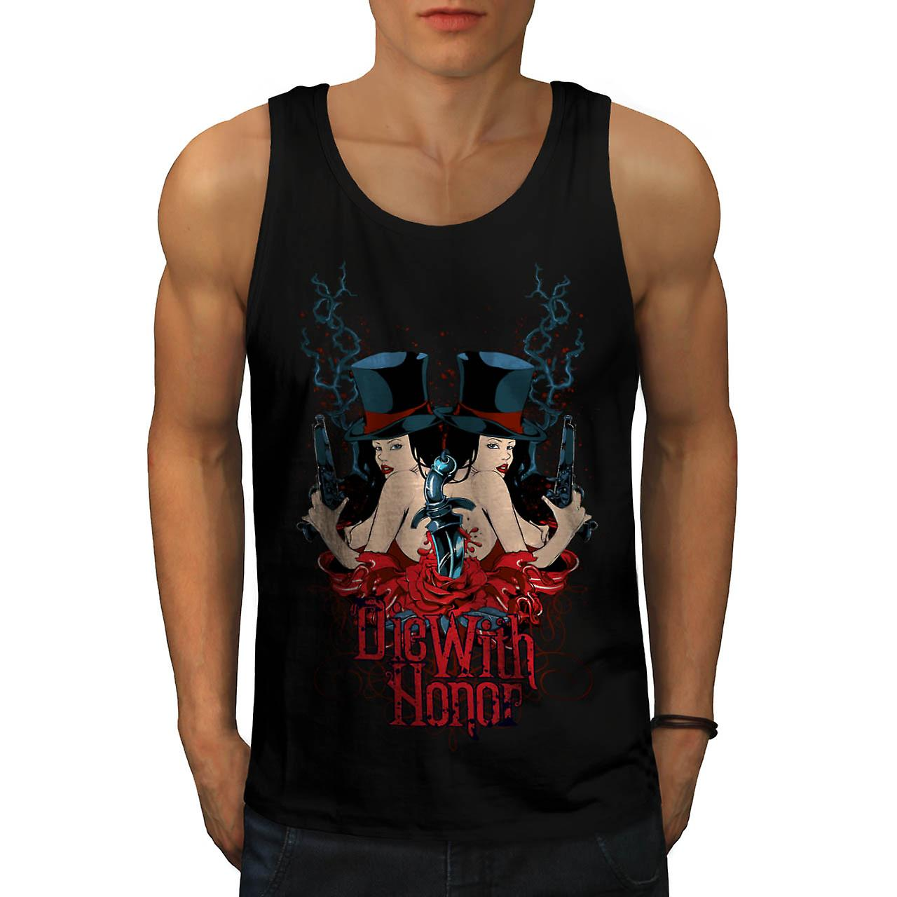 Die With Honour Girls Gangster Men Black Tank Top | Wellcoda