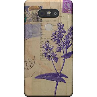 Flower cover with stamps for LG G5