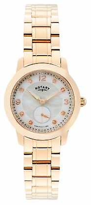Rotary Womens Cambridge, Rose Gold, Pearl, Crystal LB02702/41 Watch