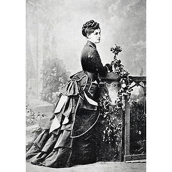 Miss Jenny Jerome Aka Lady Randolph Churchill 1854 a 1921 madre de Sir Winston Churchill de una Comisión de la vagueación por Winston S Churchill publicado por Scribners 1930 PosterPrint