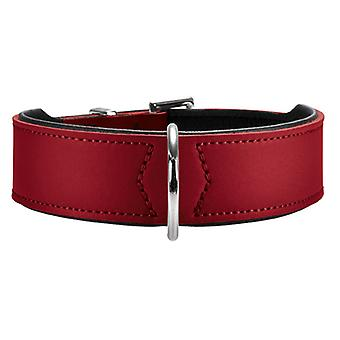 Hunter Basic 42 Split Leather Collar Red 26mm X 35-39.5cm