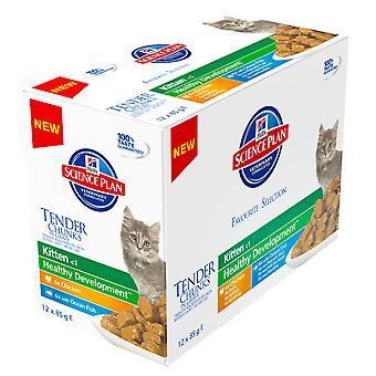 Hill's Science Plan Feline Chunks & Gravy Kitten Pouch Multipack 12x85g