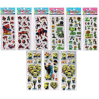 24 x RANDOM | Sticker Sheets | Ideal for Party Bags and Scrapbooks | BOY & GIRL MIX