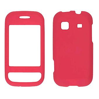 Two piece Soft Touch Snap-On Case for Samsung Trender SPH-M380 - Dark Red