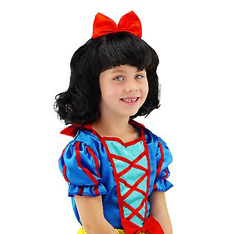 Wig child snow white fairytale children wig black