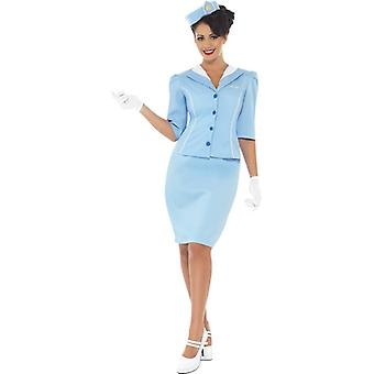 Air hostess van 60s stewardess kostuum jurk dames