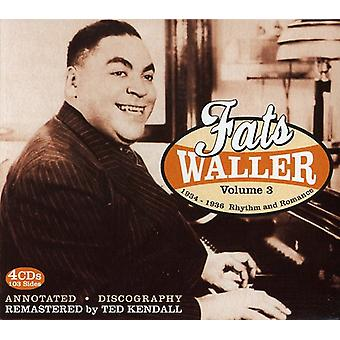 Fats Waller - Fats Waller: Vol. 3-1934-36 Rhythm & Romance [CD] USA import