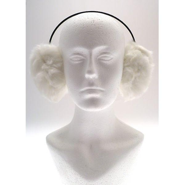 W.A.T Soft Faux Fur White Earmuffs