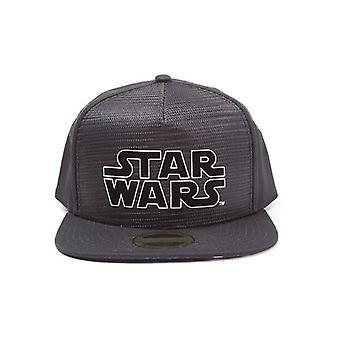 Star Wars New Hope Main Logo Snapback Baseball Cap - Black  (SB097503STW)