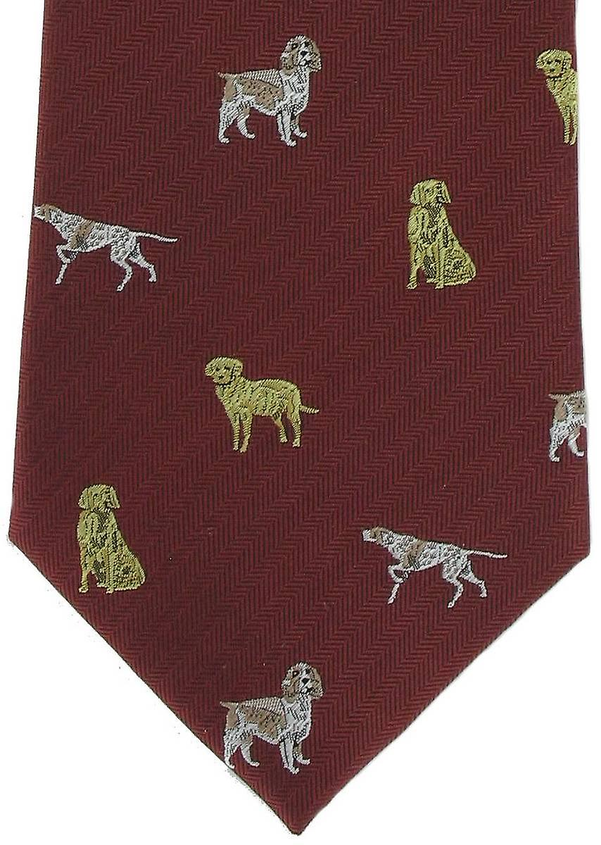 Michelsons of London Gun Dogs Silk Tie - Red