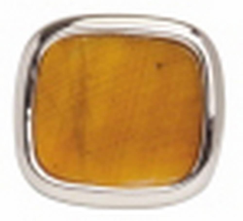 David Van Hagen Tigerseye Tie Tac - Brown/Silver