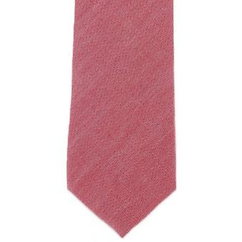 Michelsons of London Plain Cotton Tie - Red