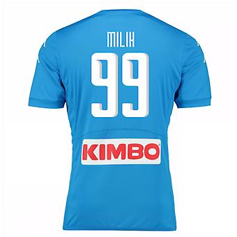 2016-17 Napoli authentiek thuis Shirt (Milik 99)