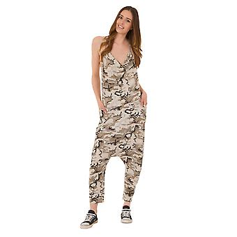 Jersey Jumpsuit - Urban Camo Drop Crotch Lightweight Stretch Relaxed Fit Playsui