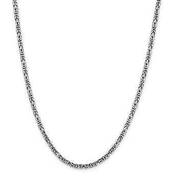 Argento sterlina solido lucido aragosta artiglio chiusura 3,25 mm bizantina catena collana - moschettone - lunghezza: 18-30