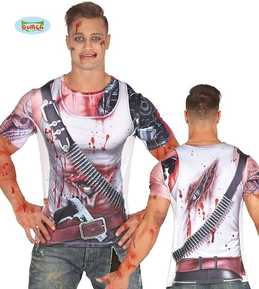 Bloody Android fighting machine robot soldier Mr costume