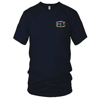 US Navy Utilities Man Rating Embroidered Patch - UT Seabee Mens T Shirt