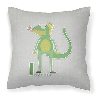 Carolines Treasures  BB5734PW1818 Alphabet I for Iguana Fabric Decorative Pillow