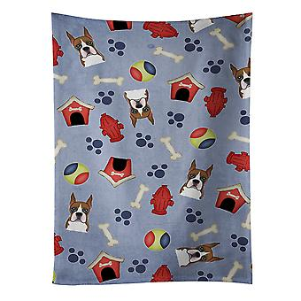 Carolines Treasures  BB4002KTWL Dog House Collection Boxer Kitchen Towel