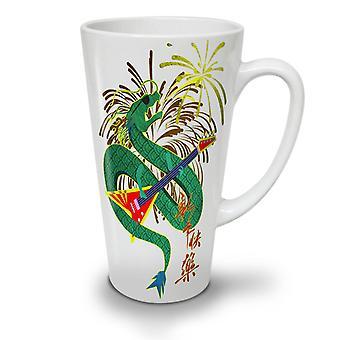 Chinese Year New NEW White Tea Coffee Ceramic Latte Mug 17 oz | Wellcoda