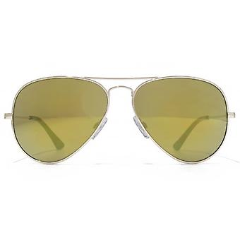 American Freshman Classic Metal Pilot Sunglasses In Light Gold
