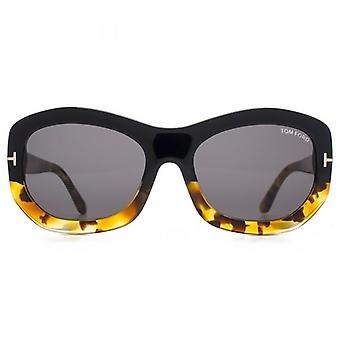 Tom Ford Amy Sunglasses In Black And Havana