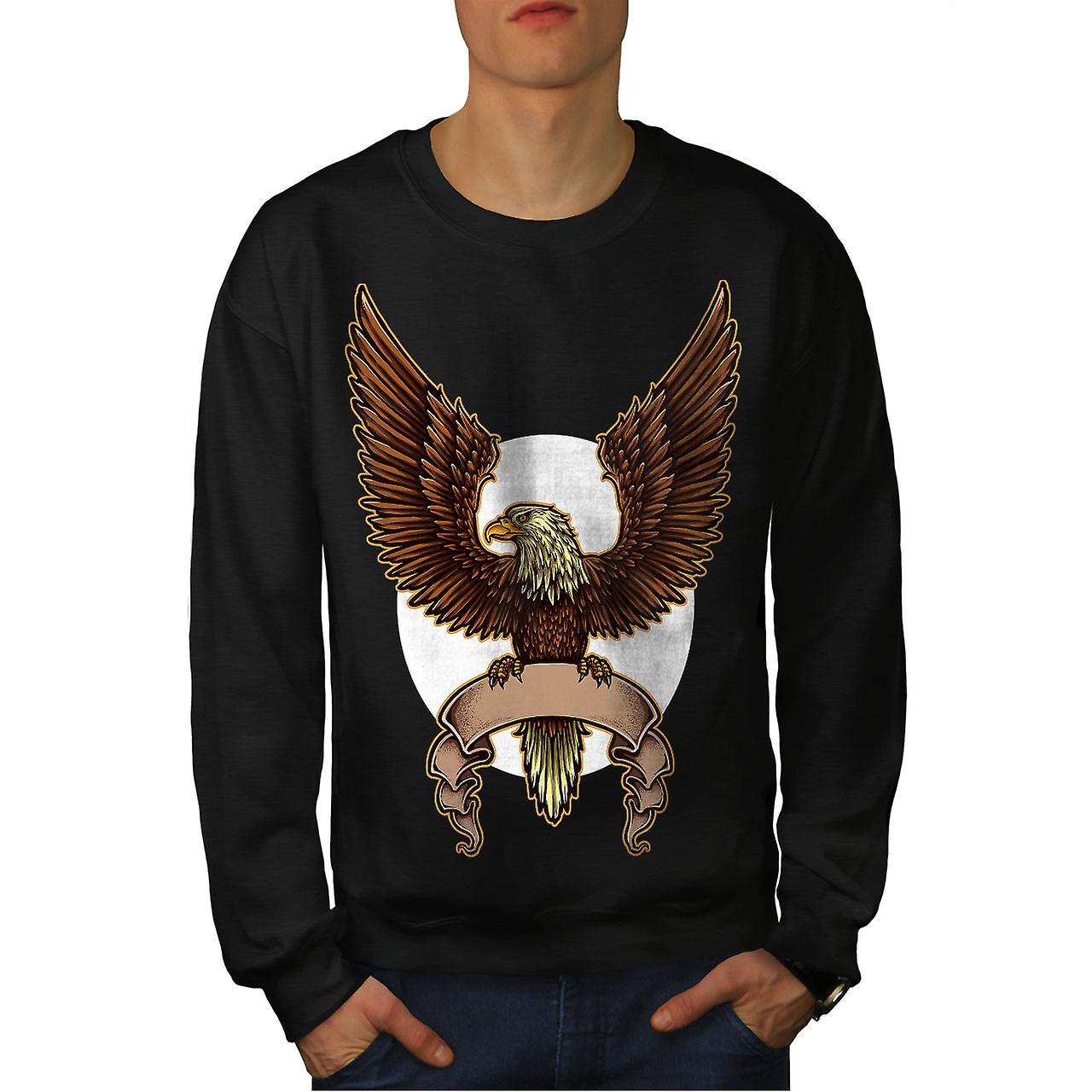 Eagle Moon Night Mode hommes noirSweatshirt