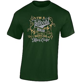 I'm a Tattooed Dad Except Much Cooler Gold/Silver Edition Mens T-Shirt 10 Colours (S-3XL) by swagwear