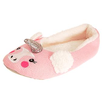 Forever Dreaming Womens/Ladies Animal Character Slipper Shoes