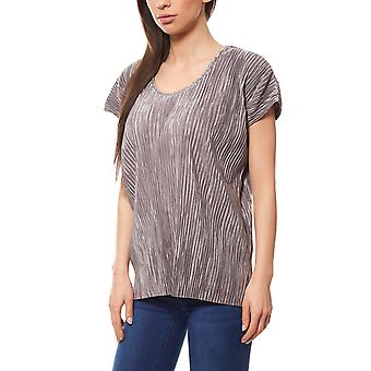Pleated shirt mullet-style T-Shirt ladies grey B.C.. best connections by heine