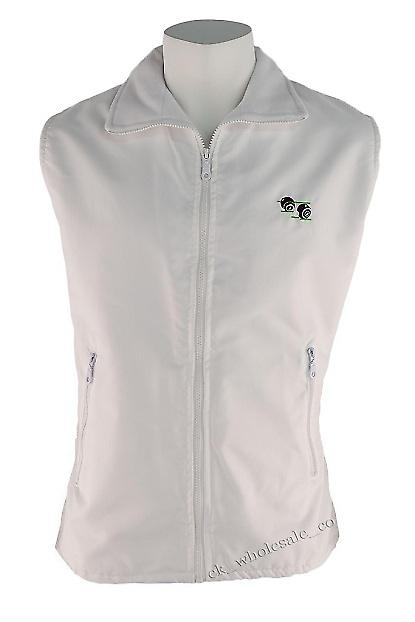White Lawn Bowls Gilet / Body Warmer Sizes Small to XXL