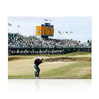 Darren Clarke Signed Photograph: The Winning Shot