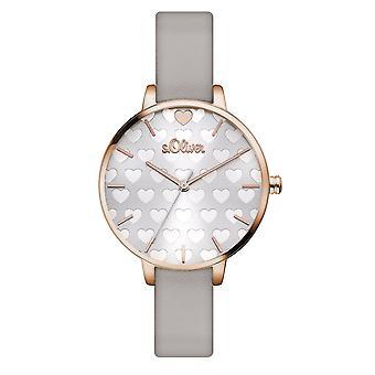 s.Oliver kvinners watch armbåndsur skinn SO-3475-LQ