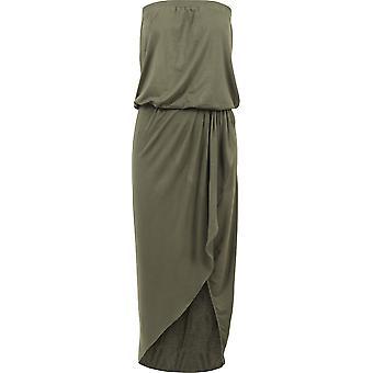 Urban classics ladies viscose bandeau dress