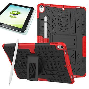 Hybrid outdoor protective case red for Apple iPad Pro 10.5 2017 bag + 0.4 H9 tempered glass