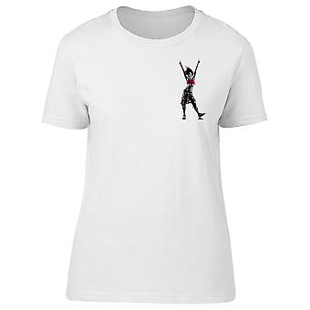 Woman Zumba Fitness Dancer Tee Women's -Image by Shutterstock