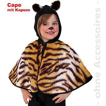 Тигр костюм ребенка тигра плащ мыса дикая кошка, которую дети костюм