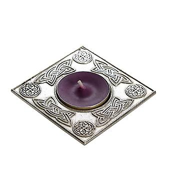 Celtic Square Candle Holder & Cast Pewter Rim