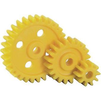 Plastic Cogwheel set Reely Module Type: 1.0 No. of teeth: 10, 20, 30 15 pc(s)