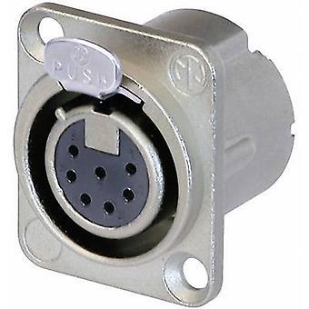 XLR connector Sleeve socket, straight pins Number of pins: 7 Silver Neutrik NC7FD-LX 1 pc(s)